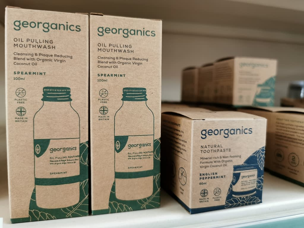 Natural and organic oral care wrapped in sustainable plastic-free packaging from Georganics