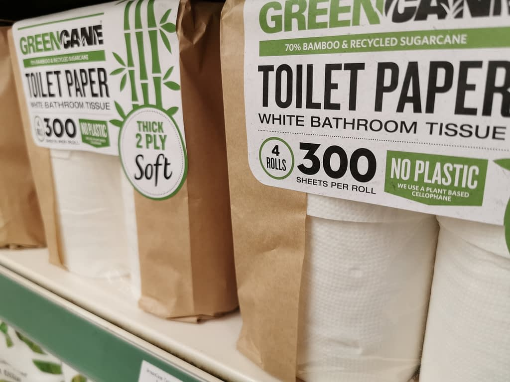 GreenCane Toilet Paper: made from 70% bamboo and recycled sugarcane