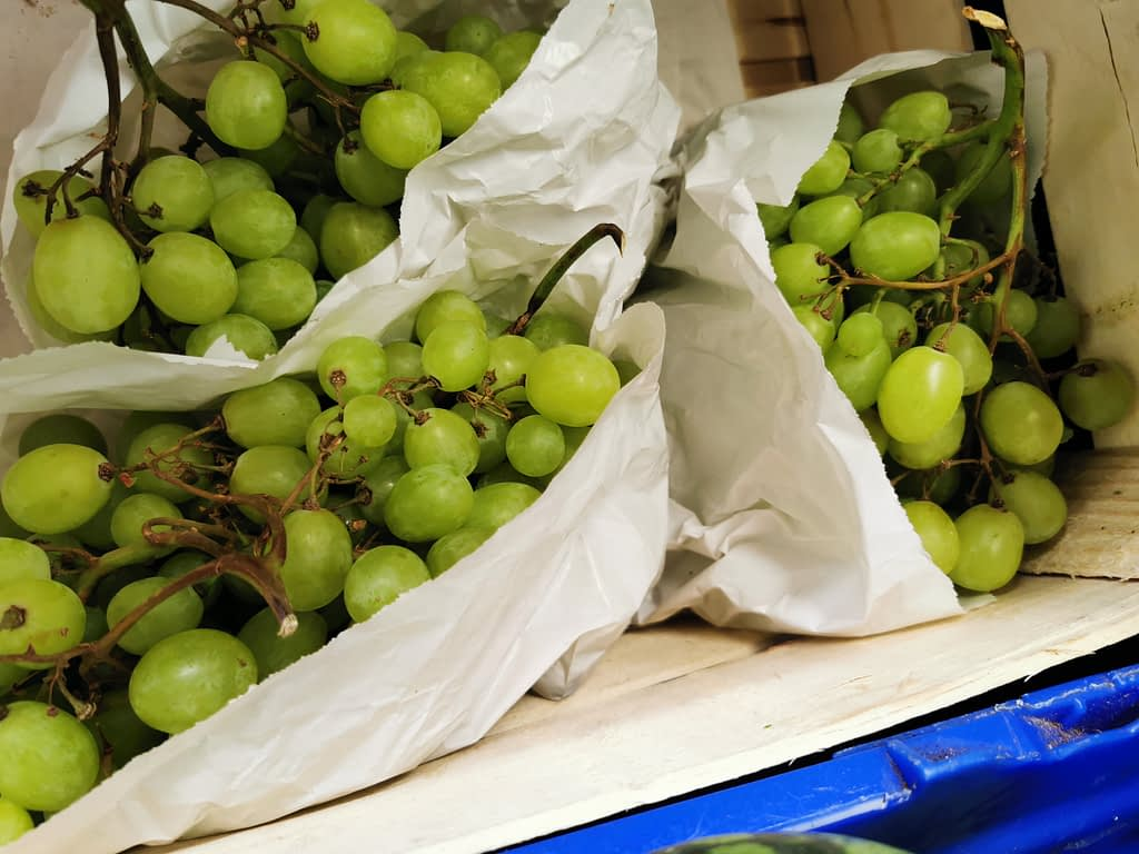 Succulent organic grapes from Earthfare