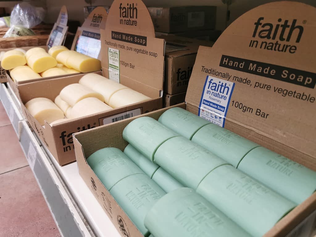 Faith In Nature Handmade Soap: traditionally made and 100% plant-based
