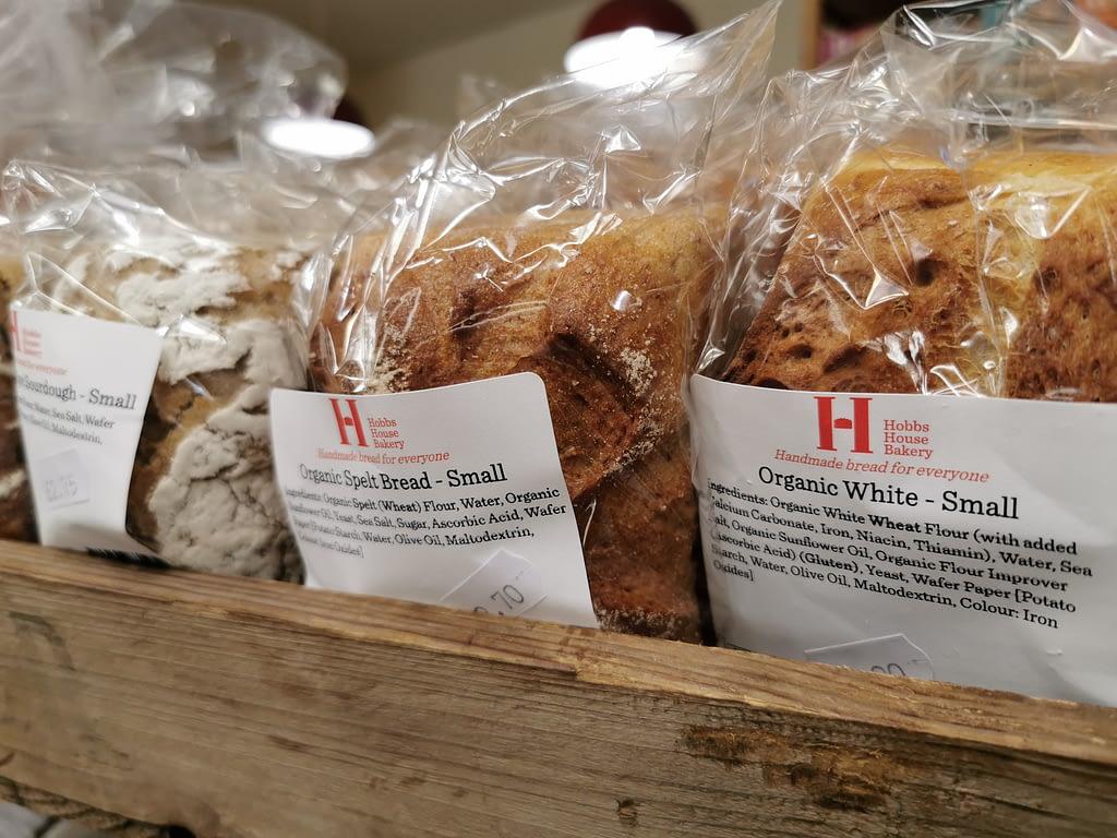 Fresh organic artisan bread from Hobbs House Bakery